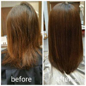 """大野城髪質改善専門美容室Lien hair design(リアン ヘアー デザイン)『美髪チャージプレミアムトリートメント』&『Microbubble』&『TOKIOインカラミリミテッドトリートメント』のお客様です(^^)  他店での縮毛矯正で毛先がビリビリにビビってしまったお客様の髪も新成分 還元ケラチンでもっと強く美しい髪へ(^_^)v! S – S結合を再構築する""""還元ケラチン""""とダメージを補修する""""直効きケラチン""""でサロントリートメントの新時代。 芯から強く弾むしなやかさ、驚きのツヤと手触りを叶えます。  2大システムにより、元々の髪質・ダメージを選ばずに・・・  《 仕上がり質感 》  サラサラ・滑らかな指通り。 柔らかく、弾力がある。 内部からみずみずしく潤う(油分で補うしっとり感ではない)。 感動のツヤ。 従来のシステムトリートメントのように""""質感を付与""""しているのではなく、ダメージで失われた結合(S – S結合)や毛髪成分を再構築することで、結果的に生み出された質感のため、髪質やダメージレベルを選ばず、優れた質感が得られます。  『美髪チャージプレミアムトリートメント』なら1回目より2回目、2回目より3回目と繰り返せば繰り返すほど艶々サラサラに仕上がっちゃいます(^-^)   そして今、話題の『マイクロファインバブル』を使用することにより美髪チャージの力を120%まで引き上げてくれます(σ≧▽≦)σ  こちらのメニューは、こんな方にお薦め!   ・髪の毛のダメージが気になる ・カラーやブリーチをしている ・髪の毛を伸ばしたいが伸ばせない ・髪の毛がパサつく、引っかかりがある ・髪の毛のツヤがほしい  本気で髪の毛を良くしたい方必見!  月1回の施術いただくことをお薦めします(^_^)   新システムによりグレードアップした『美髪チャージプレミアムトリートメント』で さわればわかる!さわりたくなる髪を手に入れてみませんか(^^)   美髪チャージメニュー  美髪チャージプレミアムトリートメント ¥10000~  美髪チャージプレミアムカラー ¥18000~  美髪チャージプレミアムデジタルパーマ ¥24000~  美髪チャージプレミアム美革ストレート ¥27000 ~  大野城髪質改善専門美容室Lien(リアン)hair design9月の定休日のご案内です。  9月の定休日は28日となっております(^^)  祭日の月曜日は営業しておりますので皆様宜しくお願い致します!  「髪質改善」美容室 リアン ヘアーデザイン  福岡県大野城市中央2丁目1−13  tel:092-593-3339  ※完全マンツーマンサロンですので、 お電話の対応、施術、会計など 全てひとりで担当させていただいております。 そのため施術中はお電話が取れない場合がございます。 その際は折り返しご連絡をさせていただきます。  #大野城 #大野城市 #春日 #春日市 #太宰府 #太宰府市 #福岡 #博多区 #マンツーマン美容室 #プライベートサロン #コロナ対策 #大野城駅 #髪質改善 #大野城髪質改善 #大野城市髪質改善 #ヴァリジョア #サイエンスアクア #オッジィオット #oggiotto #tokioインカラミ  #tokioトリートメント  #トキオトリートメント #marbb #Microbubblesystem #モイスチャーケアミスト #ケアドライ #ケラリファイン"""