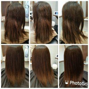 """大野城髪質改善専門美容室Lien hair design(リアン ヘアー デザイン)『美髪チャージプレミアムカラー』&『Micro bubbleスパ』&『TOKIOインカラミリミテッドトリートメント』のお客様です(^^)  リアンの『美髪チャージプレミアムカラー』ならハイトーンの白髪染め&縮毛矯正&毎日のストレートアイロンを繰り返したことにより毛先がビリビリになられてるお客様も、こんなに艶々サラサラに仕上がっちゃいます(о´∀`о)  新成分 還元ケラチンでもっと強く美しい髪へ(^_^)v! S – S結合を再構築する""""還元ケラチン""""とダメージを補修する""""直効きケラチン""""でサロントリートメントの新時代。 芯から強く弾むしなやかさ、驚きのツヤと手触りを叶えます。  2大システムにより、元々の髪質・ダメージを選ばずに・・・  《 仕上がり質感 》  サラサラ・滑らかな指通り。 柔らかく、弾力がある。 内部からみずみずしく潤う(油分で補うしっとり感ではない)。 感動のツヤ。 従来のシステムトリートメントのように""""質感を付与""""しているのではなく、ダメージで失われた結合(S – S結合)や毛髪成分を再構築することで、結果的に生み出された質感のため、髪質やダメージレベルを選ばず、優れた質感が得られます。  『美髪チャージプレミアムカラー』なら1回目より2回目、2回目より3回目と繰り返せば繰り返すほど艶々サラサラに仕上がっちゃいます(^-^)   そして今、話題の『マイクロファインバブル』を使用することにより美髪チャージの力を120%まで引き上げてくれます(σ≧▽≦)σ  こちらのメニューは、こんな方にお薦め!   ・髪の毛のダメージが気になる ・カラーやブリーチをしている ・髪の毛を伸ばしたいが伸ばせない ・髪の毛がパサつく、引っかかりがある ・髪の毛のツヤがほしい  本気で髪の毛を良くしたい方必見!  月1回の施術いただくことをお薦めします(^_^)   新システムによりグレードアップした『美髪チャージプレミアムカラー』で さわればわかる!さわりたくなる髪を手に入れてみませんか(^^)   美髪チャージメニュー  美髪チャージプレミアムトリートメント ¥10000~  美髪チャージプレミアムカラー ¥18000~  美髪チャージプレミアムデジタルパーマ ¥24000~  美髪チャージプレミアム美革ストレート ¥27000 ~  10月は5.12.19.26日にお休みをいただいておりますので皆様宜しくお願い致します! そして祝日がなくなったのを教えていただいた皆様ありがとうございますm(_ _)m  「髪質改善」美容室 リアン ヘアーデザイン  福岡県大野城市中央2丁目1−13  tel:092-593-3339  ※完全マンツーマンサロンですので、 お電話の対応、施術、会計など 全てひとりで担当させていただいております。 そのため施術中はお電話が取れない場合がございます。 その際は折り返しご連絡をさせていただきます  #大野城 #大野城市 #白木原 #下大利 #春日 #春日市 #太宰府 #太宰府市 #筑紫野 #筑紫野市 #福岡 #博多区 #マンツーマン美容室 #プライベートサロン #コロナ対策 #大野城駅 #髪質改善 #大野城髪質改善 #大野城市髪質改善 #ヴァリジョア #サイエンスアクア #オッジィオット #oggiotto #tokioインカラミ  #tokioトリートメント  #トキオトリートメント #ケラリファイン"""