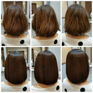 """大野城髪質改善専門美容室Lien hair design(リアン ヘアー デザイン)『美髪チャージプレミアムカラー』のお客様です(^^)  リアンの『美髪チャージプレミアムカラー』なら白髪染めを繰り返されて毛先が乾燥されたお客様も、こんなに艶々サラサラに仕上がっちゃいます(о´∀`о)  新成分 還元ケラチンでもっと強く美しい髪へ(^_^)v! S – S結合を再構築する""""還元ケラチン""""とダメージを補修する""""直効きケラチン""""でサロントリートメントの新時代。 芯から強く弾むしなやかさ、驚きのツヤと手触りを叶えます。  2大システムにより、元々の髪質・ダメージを選ばずに・・・  《 仕上がり質感 》  サラサラ・滑らかな指通り。 柔らかく、弾力がある。 内部からみずみずしく潤う(油分で補うしっとり感ではない)。 感動のツヤ。 従来のシステムトリートメントのように""""質感を付与""""しているのではなく、ダメージで失われた結合(S – S結合)や毛髪成分を再構築することで、結果的に生み出された質感のため、髪質やダメージレベルを選ばず、優れた質感が得られます。  『美髪チャージプレミアムカラー』なら1回目より2回目、2回目より3回目と繰り返せば繰り返すほど艶々サラサラに仕上がっちゃいます(^-^)   そして今、話題の『マイクロファインバブル』を使用することにより美髪チャージの力を120%まで引き上げてくれます(σ≧▽≦)σ  こちらのメニューは、こんな方にお薦め!   ・髪の毛のダメージが気になる ・カラーやブリーチをしている ・髪の毛を伸ばしたいが伸ばせない ・髪の毛がパサつく、引っかかりがある ・髪の毛のツヤがほしい  本気で髪の毛を良くしたい方必見!  月1回の施術いただくことをお薦めします(^_^)   新システムによりグレードアップした『美髪チャージプレミアムカラー』で さわればわかる!さわりたくなる髪を手に入れてみませんか(^^)   美髪チャージメニュー  美髪チャージプレミアムトリートメント ¥10000~  美髪チャージプレミアムカラー ¥18000~  美髪チャージプレミアムデジタルパーマ ¥24000~  美髪チャージプレミアム美革ストレート ¥27000 ~  10月は12.19.26日にお休みをいただいておりますので皆様宜しくお願い致します! そして祝日がなくなったのを教えていただいた皆様ありがとうございますm(_ _)m  「髪質改善」美容室 リアン ヘアーデザイン  福岡県大野城市中央2丁目1−13  tel:092-593-3339  ※完全マンツーマンサロンですので、 お電話の対応、施術、会計など 全てひとりで担当させていただいております。 そのため施術中はお電話が取れない場合がございます。 その際は折り返しご連絡をさせていただきます  #大野城 #大野城市 #白木原 #下大利 #春日 #春日市 #太宰府 #太宰府市 #筑紫野 #筑紫野市 #福岡 #博多区 #マンツーマン美容室 #プライベートサロン #コロナ対策 #大野城駅 #髪質改善 #大野城髪質改善 #大野城市髪質改善 #ヴァリジョア #サイエンスアクア #オッジィオット #oggiotto #tokioインカラミ  #tokioトリートメント  #トキオトリートメント #ケラリファイン"""