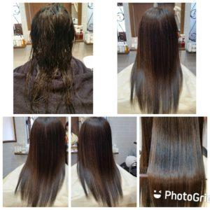 """大野城髪質改善専門美容室Lien hair design(リアン ヘアー デザイン)『美髪チャージプレミアム美革ストレート』のお客様です(^^)  リアンの『美髪チャージプレミアム美革ストレート』なら毎月の白髪染めや繰り返しの縮毛矯正で髪が細くなられてるお客様も、こんなにサラサラ艶々に仕上がっちゃいます(о´∀`о)  還元ケラチンでもっと強く美しい髪へ(^_^)v! S – S結合を再構築する""""還元ケラチン""""とダメージを補修する""""直効きケラチン""""でサロントリートメントの新時代。 芯から強く弾むしなやかさ、驚きのツヤと手触りを叶えます。  2大システムにより、元々の髪質・ダメージを選ばずに・・・  《 仕上がり質感 》  サラサラ・滑らかな指通り。 柔らかく、弾力がある。 内部からみずみずしく潤う(油分で補うしっとり感ではない)。 感動のツヤ。 従来のシステムトリートメントのように""""質感を付与""""しているのではなく、ダメージで失われた結合(S – S結合)や毛髪成分を再構築することで、結果的に生み出された質感のため、髪質やダメージレベルを選ばず、優れた質感が得られます。  『美髪チャージプレミアム美革ストレート』なら1回目より2回目、2回目より3回目と繰り返せば繰り返すほど艶々サラサラに(^-^)   そして今、話題の『マイクロファインバブル』を使用することにより美髪チャージの力を120%まで引き上げてくれます(σ≧▽≦)σ  こちらのメニューは、こんな方にお薦め!   ・髪の毛のダメージが気になる ・カラーやブリーチをしている ・髪の毛を伸ばしたいが伸ばせない ・髪の毛がパサつく、引っかかりがある ・髪の毛のツヤがほしい  本気で髪の毛を良くしたい方必見!  月1回の施術いただくことをお薦めします(^_^)   新システムによりグレードアップした『美髪チャージプレミアム美革ストレート』で さわればわかる!さわりたくなる髪を手に入れてみませんか(^^)   美髪チャージメニュー  美髪チャージプレミアムトリートメント ¥10000~  美髪チャージプレミアムカラー ¥18000~  美髪チャージプレミアムデジタルパーマ ¥24000~  美髪チャージプレミアム美革ストレート ¥27000~  10月は5.12.19.26日にお休みをいただいておりますので皆様宜しくお願い致します!  「髪質改善」美容室 リアン ヘアーデザイン  福岡県大野城市中央2丁目1−13  tel:092-593-3339  ※完全マンツーマンサロンですので、 お電話の対応、施術、会計など 全てひとりで担当させていただいております。 そのため施術中はお電話が取れない場合がございます。 その際は折り返しご連絡をさせていただきます  #大野城 #大野城市 #白木原 #下大利 #春日 #春日市 #太宰府 #太宰府市 #筑紫野 #筑紫野市 #福岡 #博多区 #マンツーマン美容室 #プライベートサロン #コロナ対策 #大野城駅 #髪質改善 #大野城髪質改善 #大野城市髪質改善 #ヴァリジョア #サイエンスアクア #オッジィオット #oggiotto #tokioインカラミ  #tokioトリートメント  #トキオトリートメント #ケラリファイン #美革ストレート #ビカクストレート"""