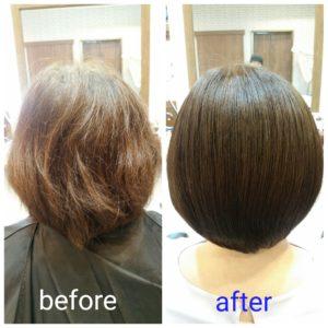 大野城髪質改善専門美容室Lien hair design(リアン ヘアー デザイン)『美髪チャージプレミアム美肌カラー』のお客様です(^^)  リアンのOggiotto(オッジィオット)を使用した『美髪チャージプレミアム美肌カラー』なら毎月の白髪染めによるダメージ&エイジング毛でお悩みのお客様の髪も、こんなに艶々サラサラに仕上がっちゃいます(о´∀`о)  『美髪チャージプレミアムカラー』なら1回目より2回目、2回目より3回目と繰り返せば繰り返すほど艶々サラサラに仕上がっちゃいます(^-^)   そして今、話題の『マイクロファインバブル』を使用することにより美髪チャージの力を120%まで引き上げてくれます(σ≧▽≦)σ  こちらのメニューは、こんな方にお薦め!   ・髪の毛のダメージが気になる ・カラーやブリーチをしている ・髪の毛を伸ばしたいが伸ばせない ・髪の毛がパサつく、引っかかりがある ・髪の毛のツヤがほしい  本気で髪の毛を良くしたい方必見!  月1回の施術いただくことをお薦めします(^_^)   新システムによりグレードアップした『美髪チャージプレミアムカラー』で さわればわかる!さわりたくなる髪を手に入れてみませんか(^^)   美髪チャージメニュー  美髪チャージプレミアムトリートメント ¥10000~  美髪チャージプレミアムカラー ¥18000~  美髪チャージプレミアムデジタルパーマ ¥24000~  美髪チャージプレミアム美革ストレート ¥27000 ~  2020年12月は14.21.28.31日にお休みを頂いております(^^)  只今、3ヶ月先までご予約が大変込み合ってきております! 毎日、多くのお客様にご来店いただいてる一方、キャンセル待ちをしていただいているにも関わらず、なかなかご予約をお受けできてないお客様方、大変申し訳ございません_(._.)_  「髪質改善」美容室 リアン ヘアーデザイン  福岡県大野城市中央2丁目1−13  tel:092-593-3339  ※完全マンツーマンサロンですので、 お電話の対応、施術、会計など 全てひとりで担当させていただいております。 そのため施術中はお電話が取れない場合がございます。 その際は折り返しご連絡をさせていただきます  #大野城 #大野城市 #春日市 #太宰府 #太宰府市 #筑紫野 #筑紫野市 #oggiotto #オッジィオット #ケラリファイン #ヴァリジョア #トキオインカラミ #トキオトリートメント #髪質改善 #美髪チャージ #美髪 #marbb #microbubblesystem #マイクロバブル