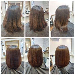 大野城髪質改善専門美容室Lien hair design(リアン ヘアー デザイン)『美髪チャージプレミアム美肌カラー』のお客様です(^^)  リアンの(オッジィオット)を使用した『美髪チャージプレミアム美肌カラー』なら白髪染めによるダメージや乾燥による広がりやうねりに悩まれていたお客様の髪も、こんなに艶々サラサラに仕上がっちゃいます(о´∀`о)  『美髪チャージプレミアムカラー』なら1回目より2回目、2回目より3回目と繰り返せば繰り返すほど艶々サラサラに仕上がっちゃいます(^-^)   そして今、話題の『マイクロファインバブル』を使用することにより美髪チャージの力を120%まで引き上げてくれます(σ≧▽≦)σ  こちらのメニューは、こんな方にお薦め!   ・髪の毛のダメージが気になる ・カラーやブリーチをしている ・髪の毛を伸ばしたいが伸ばせない ・髪の毛がパサつく、引っかかりがある ・髪の毛のツヤがほしい  本気で髪の毛を良くしたい方必見!  月1回の施術いただくことをお薦めします(^_^)  新システムによりグレードアップした『美髪チャージプレミアムカラー』で さわればわかる!さわりたくなる髪を手に入れてみませんか(^^)   美髪チャージメニュー  美髪チャージプレミアムトリートメント ¥10000~  美髪チャージプレミアムカラー ¥18000~  美髪チャージプレミアムデジタルパーマ ¥24000~  美髪チャージプレミアム美革ストレート ¥27000 ~  大野城美容室Lien hair design(リアン ヘアー デザイン)2021年5月の定休日変更お知らせです(^-^)  2021年5月は2.6.10.17.24.31日にお休みをいただいく予定でしたが予約をお取りできなかったcancel待ちのお客様を中心に5月6日も営業させていただくことになりました! リアンに来ていたはだける、お客様のために今月もフル回転で頑張りますので何卒宜しくお願い致します( ^ω^ )  只今6月の中旬までご予約が大変込み合ってきております! お早めのご予約宜しくお願い致しますm(_ _)m  「髪質改善」美容室 リアン ヘアーデザイン  福岡県大野城市中央2丁目1−13  tel:092-593-3339  ※完全マンツーマンサロンですので、 お電話の対応、施術、会計など 全てひとりで担当させていただいております。 そのため施術中はお電話が取れない場合がございます。 その際は折り返しご連絡をさせていただきます  #大野城 #大野城市 #春日市 #太宰府 #太宰府市 #筑紫野 #筑紫野市 #oggiotto #オッジィオット #ケラリファイン #ヴァリジョア #トキオインカラミ #トキオトリートメント #髪質改善 #美髪チャージ #美髪 #marbb #microbubblesystem #マイクロバブル #ヒト由来幹細胞培養液 #バイオプロポーザー #デュアルビー  #セルバイタルアンプル #イデベノン #羊水幹細胞培養液