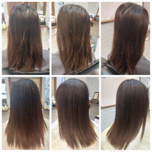 """大野城髪質改善専門美容室Lien hair design(リアン ヘアー デザイン)『美髪チャージプレミアム美革ストレートヒト幹細胞コース』のお客様です(^^)  毎日のヘアアイロン&白髪染め&他店での縮毛矯正失敗で毛先のビリビリになっていた、お客様の髪もリアンの『美髪チャージプレミアム美革ストレートヒト幹細胞コース』なら、こんなに自然で艶々サラサラストレートに仕上がっちゃいます(о´∀`о)  リアンの人気No.1メニュー『美髪チャージ』からヒト幹細胞培養液を贅沢に使用したことにより今まで以上の美髪&頭皮環境を改善、予防美容&アンチエイジングを実現した最上級メニュー『美髪チャージヒト幹細胞コース』が誕生しました!  お客様から髪だけじゃなくて頭皮も美しくケアしたいというお声をずっといただいていたのですが、研究に研究を重ね何度もトライ&エラーを繰り返した結果やっと僕自信、満足のいくメニューが完成しました(*^^*)  そして同時にヒト幹細胞培養液を使用した『ヒト幹細胞アンチエイジングスパ』付きのコースもスタートさせていただきますので、ご興味のある方は僕までお気軽にお問い合わせください!  もちろん『ヒト幹細胞アンチエイジングスパ』は単品や他メニューとの組み合わせも可能となっております(^ー^)  還元ケラチンでもっと強く美しい髪へ(^_^)v! S – S結合を再構築する""""還元ケラチン""""とダメージを補修する""""直効きケラチン""""でサロントリートメントの新時代。 芯から強く弾むしなやかさ、驚きのツヤと手触りを叶えます。  2大システムにより、元々の髪質・ダメージを選ばずに・・・  《 仕上がり質感 》  サラサラ・滑らかな指通り。 柔らかく、弾力がある。 内部からみずみずしく潤う(油分で補うしっとり感ではない)。 感動のツヤ。 従来のシステムトリートメントのように""""質感を付与""""しているのではなく、ダメージで失われた結合(S – S結合)や毛髪成分を再構築することで、結果的に生み出された質感のため、髪質やダメージレベルを選ばず、優れた質感が得られます。  『美髪チャージプレミアム美革ストレート』なら1回目より2回目、2回目より3回目と繰り返せば繰り返すほど艶々サラサラに(^-^)   そして今、話題の『マイクロファインバブル』を使用することにより美髪チャージの力を120%まで引き上げてくれます(σ≧▽≦)σ  こちらのメニューは、こんな方にお薦め!   ・髪の毛のダメージが気になる ・カラーやブリーチをしている ・髪の毛を伸ばしたいが伸ばせない ・髪の毛がパサつく、引っかかりがある ・髪の毛のツヤがほしい  本気で髪の毛を良くしたい方必見!  月1回の施術いただくことをお薦めします(^_^)   新システムによりグレードアップした『美髪チャージプレミアム美革ストレート』で さわればわかる!さわりたくなる髪を手に入れてみませんか(^^)   美髪チャージメニュー  美髪チャージプレミアムトリートメント ¥10000~  美髪チャージプレミアムカラー ¥18000~  美髪チャージプレミアムデジタルパーマ ¥24000~  美髪チャージプレミアム美革ストレート ¥27000~  大野城美容室Lien hair design(リアンヘアーデザイン)2021年8月の定休日のお知らせです!  2021年8月は23.30日に、お休みを頂いております😊  只今10月の中旬まで予約が大変込み合ってきおり、リアンに来ていただけるお客様を、お一人でも多く担当させていただければと思っておりますので、お早めのご予約宜しくお願い致します!  「髪質改善」美容室 リアン ヘアーデザイン  福岡県大野城市中央2丁目1−13  tel:092-593-3339  ※完全マンツーマンサロンですので、 お電話の対応、施術、会計など 全てひとりで担当させていただいております。 そのため施術中はお電話が取れない場合がございます。 その際は折り返しご連絡をさせていただきます  #大野城 #大野城市 #春日市 #太宰府 #太宰府市 #筑紫野 #筑紫野市 #oggiotto #オッジィオット #ケラリファイン #ヴァリジョア #トキオインカラミ #トキオトリートメント #髪質改善 #美髪チャージ #美髪 #marbb #microbubblesystem #マイクロバブル #美革ストレート #ビカクストレート"""