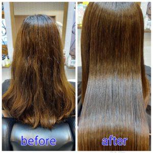 大野城髪質改善&予防美容専門美容室Lien hair design(リアン ヘアー デザイン)『美髪チャージプレミアム美肌カラーヒト幹細胞コース』のお客様です!  癖による広がり&ハイトーンカラーの繰り返しによるダメージでお悩みだったお客様の髪もリアンの『美髪チャージプレミアム美肌カラーヒト幹細胞コース』なら、こんなに艶々サラサラに仕上がっちゃいます(о´∀`о)  リアンの人気No.1メニュー『美髪チャージ』からヒト幹細胞培養液を贅沢に使用したことにより今まで以上の美髪&頭皮環境を改善、予防美容&アンチエイジングを実現した最上級メニュー『美髪チャージヒト幹細胞コース』が誕生しました!  お客様から髪だけじゃなくて頭皮も美しくケアしたいというお声をずっといただいていたのですが、研究に研究を重ね何度もトライ&エラーを繰り返した結果やっと僕自信、満足のいくメニューが完成しました(*^^*)  そして同時にヒト幹細胞培養液を使用した『ヒト幹細胞アンチエイジングスパ』付きのコースもスタートさせていただきますので、ご興味のある方は僕までお気軽にお問い合わせください!  もちろん『ヒト幹細胞アンチエイジングスパ』は単品や他メニューとの組み合わせも可能となっております(^ー^)  『美髪チャージプレミアムカラー』なら1回目より2回目、2回目より3回目と繰り返せば繰り返すほど艶々サラサラに仕上がっちゃいます(^-^)   こちらのお客様も、毛先部分の枝毛も2回、3回とやればやるほどに修復していけると思います(^ー^)  もし他店での施術失敗で毛先がビリビリになってしまわれたお客様も諦めずに1度、髪を見せていただけたらと思います( ^ω^ )  そして今、話題の『マイクロファインバブル』を使用することにより美髪チャージの力を120%まで引き上げてくれます(σ≧▽≦)σ  こちらのメニューは、こんな方にお薦め!   ・髪の毛のダメージが気になる ・カラーやブリーチをしている ・髪の毛を伸ばしたいが伸ばせない ・髪の毛がパサつく、引っかかりがある ・髪の毛のツヤがほしい  本気で髪の毛を良くしたい方必見!  月1回の施術いただくことをお薦めします(^_^)  新システムによりグレードアップした『美髪チャージプレミアムカラー』で さわればわかる!さわりたくなる髪を手に入れてみませんか(^^)   美髪チャージメニュー  美髪チャージプレミアムトリートメント ¥10000~  美髪チャージプレミアムカラー ¥18000~  美髪チャージプレミアムデジタルパーマ ¥24000~  美髪チャージプレミアム美革ストレート ¥27000 ~  大野城美容室Lien hair design(リアンヘアーデザイン)2021年8月の定休日のお知らせです!  2021年8月は2.5.12.13.14.15.16.23.30日に、お休みを頂いております😊  只今10月の中旬まで予約が大変込み合ってきおり、リアンに来ていただけるお客様を、お一人でも多く担当させていただければと思っておりますので、お早めのご予約宜しくお願い致します!  「髪質改善」美容室 リアン ヘアーデザイン  福岡県大野城市中央2丁目1−13  tel:092-593-3339  ※完全マンツーマンサロンですので、 お電話の対応、施術、会計など 全てひとりで担当させていただいております。 そのため施術中はお電話が取れない場合がございます。 その際は折り返しご連絡をさせていただきます  #大野城 #大野城市 #春日市 #太宰府 #太宰府市 #筑紫野 #筑紫野市 #oggiotto #オッジィオット #ケラリファイン #ヴァリジョア #トキオインカラミ #トキオトリートメント #髪質改善 #美髪チャージ #美髪 #marbb #microbubblesystem #マイクロバブル #ヒト由来幹細胞培養液 #ヒト幹細胞 #アンチエイジング
