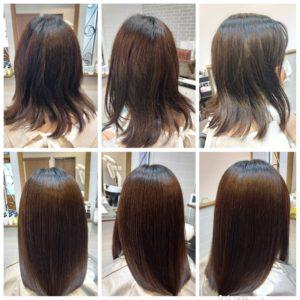 大野城髪質改善&予防美容専門美容室Lien hair design(リアン ヘアー デザイン)『美髪チャージプレミアムトリートメントヒト幹細胞コース』のお客様です(^^)  ホームカラーでの黒染め&ヘアカラーを繰り返しでのダメージで悩まれていたお客様の髪もリアンの『美髪チャージプレミアムトリートメントヒト幹細胞コース』なら、幹細胞と美髪チャージを使用した、頭皮のエイジングケアと毛髪へのダブルアプローチにより、トップのボリュームを改善しつつ、こんなに艶々サラサラだけど纏まる髪に仕上がっちゃいます(о´∀`о)  髪のダメージだけでなく、薄毛や抜け毛、細毛で悩まれているお客様諦められる前に是非一度リアンの『ヒト幹細胞ケア』を、お試しになられてください(^_^)  リアンの人気No.1メニュー『美髪チャージ』からヒト幹細胞培養液を贅沢に使用したことにより今まで以上の美髪&頭皮環境を改善、予防美容&アンチエイジングを実現した最上級メニュー『美髪チャージヒト幹細胞コース』が誕生しました!  お客様から髪だけじゃなくて頭皮も美しくケアしたいというお声をずっといただいていたのですが、研究に研究を重ね何度もトライ&エラーを繰り返した結果やっと僕自信、満足のいくメニューが完成しました(*^^*)  そして同時にヒト幹細胞培養液を使用した『ヒト幹細胞アンチエイジングスパ』付きのコースもスタートさせていただきますので、ご興味のある方は僕までお気軽にお問い合わせください!  もちろん『ヒト幹細胞アンチエイジングスパ』は単品や他メニューとの組み合わせも可能となっております(^ー^)  『美髪チャージプレミアムカラー』なら1回目より2回目、2回目より3回目と繰り返せば繰り返すほど艶々サラサラに仕上がっちゃいます(^-^)   こちらのお客様も、毛先部分の枝毛も2回、3回とやればやるほどに修復していけると思います(^ー^)  もし他店での施術失敗で毛先がビリビリになってしまわれたお客様も諦めずに1度、髪を見せていただけたらと思います( ^ω^ )  そして今、話題の『マイクロファインバブル』を使用することにより美髪チャージの力を120%まで引き上げてくれます(σ≧▽≦)σ  こちらのメニューは、こんな方にお薦め!   ・髪の毛のダメージが気になる ・カラーやブリーチをしている ・髪の毛を伸ばしたいが伸ばせない ・髪の毛がパサつく、引っかかりがある ・髪の毛のツヤがほしい  本気で髪の毛を良くしたい方必見!  月1回の施術いただくことをお薦めします(^_^)  新システムによりグレードアップした『美髪チャージプレミアムカラー』で さわればわかる!さわりたくなる髪を手に入れてみませんか(^^)   美髪チャージメニュー  美髪チャージプレミアムトリートメント  ¥10000~  美髪チャージプレミアムカラー ¥18000~  美髪チャージプレミアムデジタルパーマ ¥24000~  美髪チャージプレミアム美革ストレート ¥27000 ~  大野城美容室Lien hair design(リアンヘアーデザイン)2021年10月の定休日のご案内です!  2021年10月は4.11.18.21.25日にお休みを16日の土曜日は午後からお休みさせていただいております(^ー^)  只今12月の下旬まで予約が大変込み合ってきおり、リアンに来ていただけるお客様を、お一人でも多く担当させていただければと思っておりますので、お早めのご予約宜しくお願い致します!  「髪質改善」美容室 リアン ヘアーデザイン  福岡県大野城市中央2丁目1−13  tel:092-593-3339  ※完全マンツーマンサロンですので、 お電話の対応、施術、会計など 全てひとりで担当させていただいております。 そのため施術中はお電話が取れない場合がございます。 その際は折り返しご連絡をさせていただきます  #大野城 #大野城市 #大野城美容室 #大野城市美容室 #春日市 #春日市美容室 #太宰府 #太宰府市 #太宰府美容室 #太宰府市美容室 #筑紫野 #筑紫野市 #筑紫野美容室 #筑紫野市美容室 #下大利 #白木原 #春日原 #福岡 #福岡県 #福岡美容室 #福岡県美容室 #oggiotto #オッジィオット #髪質改善 #美髪 #マイクロバブル #オーガニック  #オーガニックカラー #薄毛 #育毛